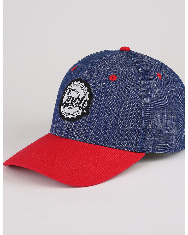 Cinch Men's Colorblock Adjustable Ball Cap , Purple, hi-res