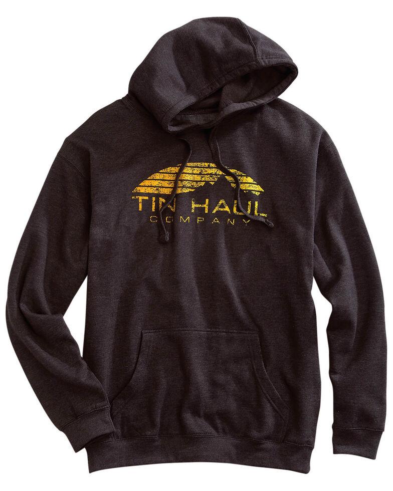 Tin Haul Men's Grey Sunset Mountain Graphic Hooded Sweatshirt , Grey, hi-res