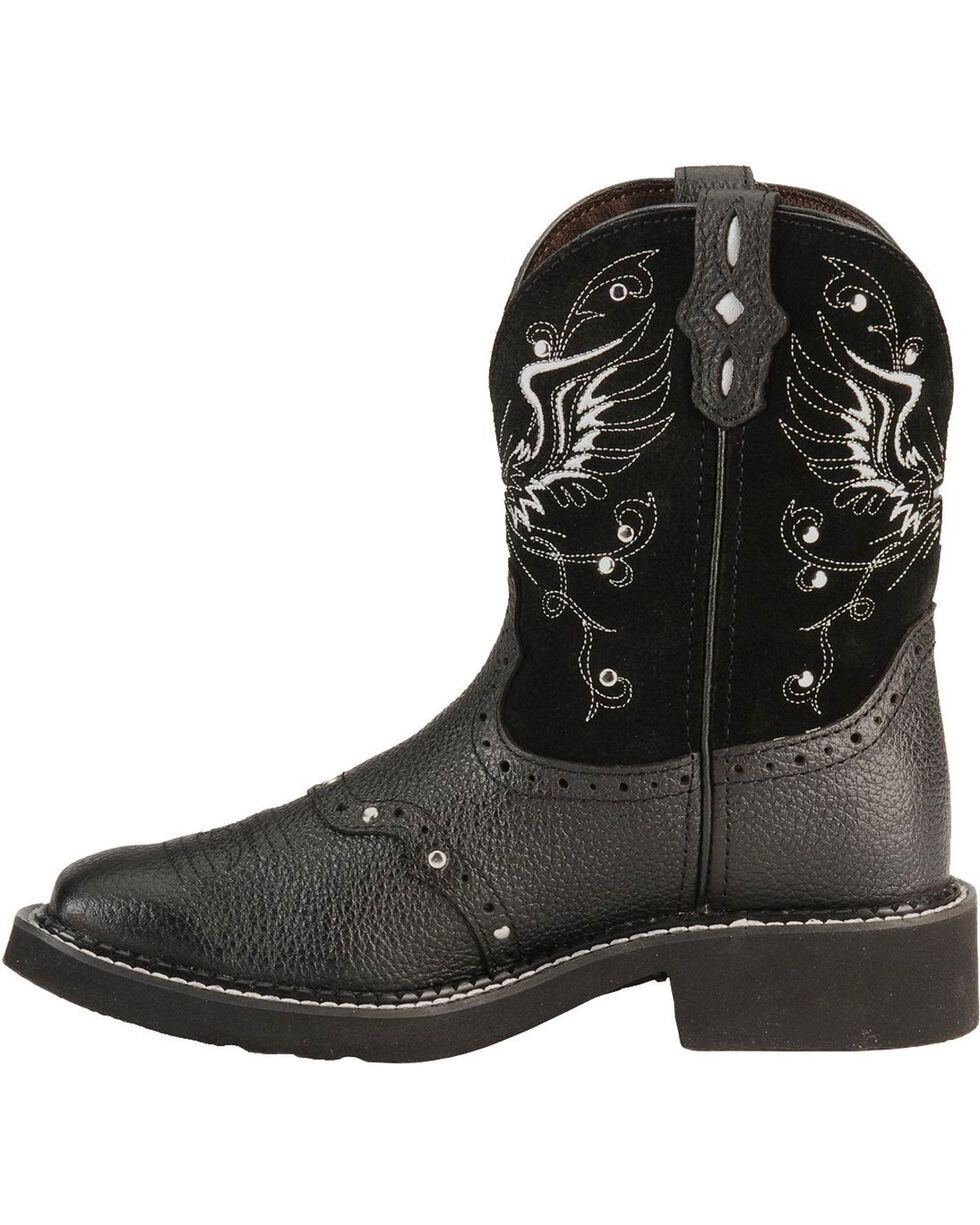"Justin Women's 8"" Gypsy Cross And Wings Western Boots, Black, hi-res"