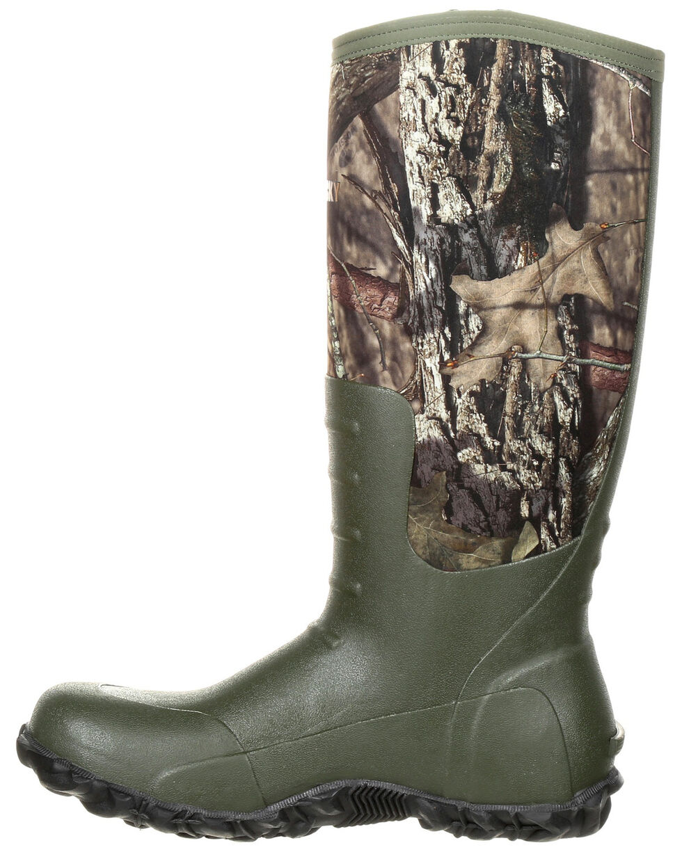 Rocky Men's Core Rubber Waterproof Outdoor Boots - Round Toe, Camouflage, hi-res