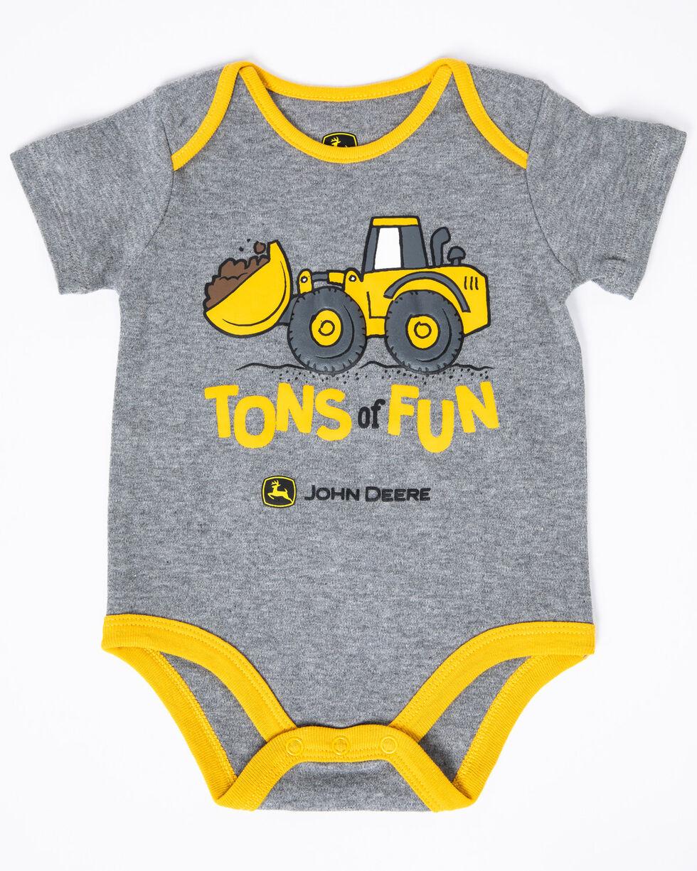 John Deere Infant Boys' Tons of Fun Graphic Body Shirt , Grey, hi-res