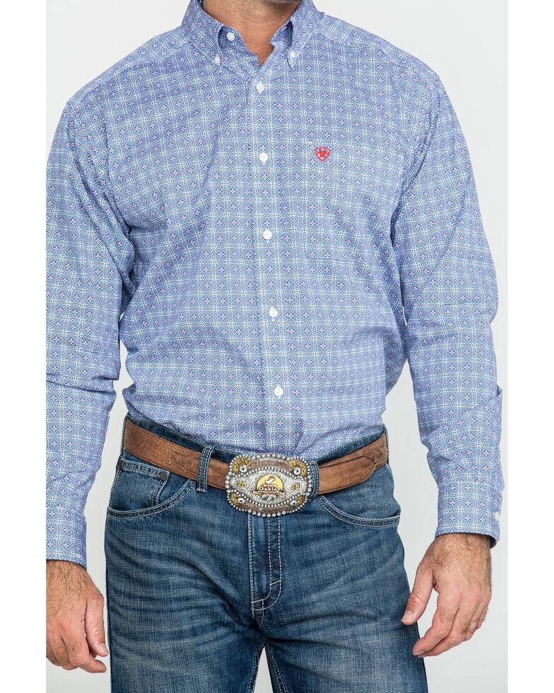Ariat Men's Glaston Geo Print Long Sleeve Western Shirt , Multi, hi-res