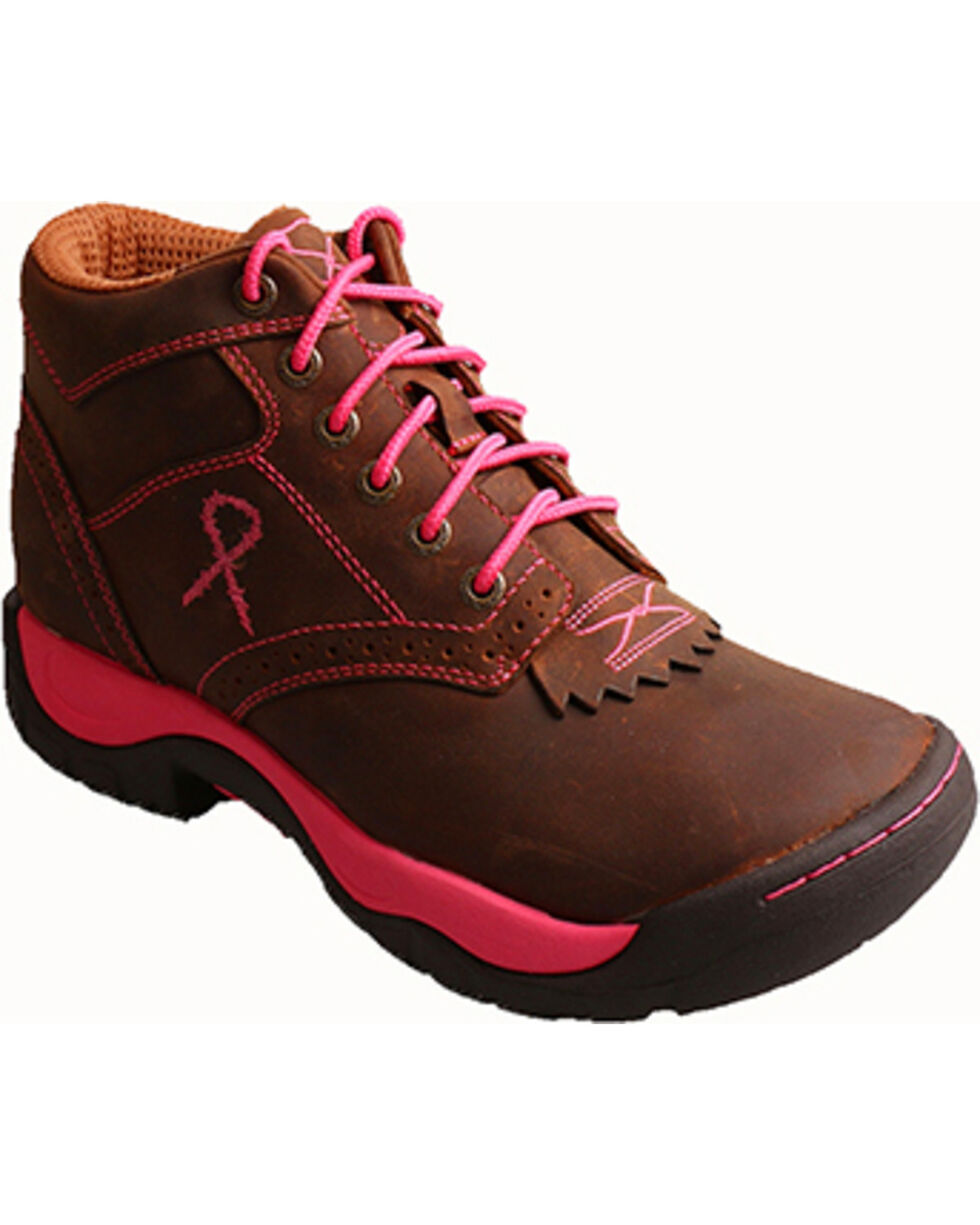 Twisted X Women's All Around Lacer Work Boots, Brown, hi-res