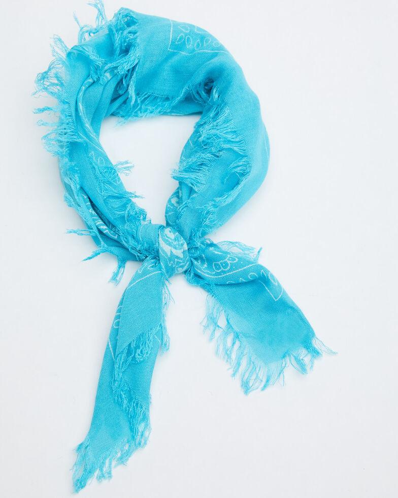 Idyllwind Women's Rocking West Frayed Bandana, Blue, hi-res