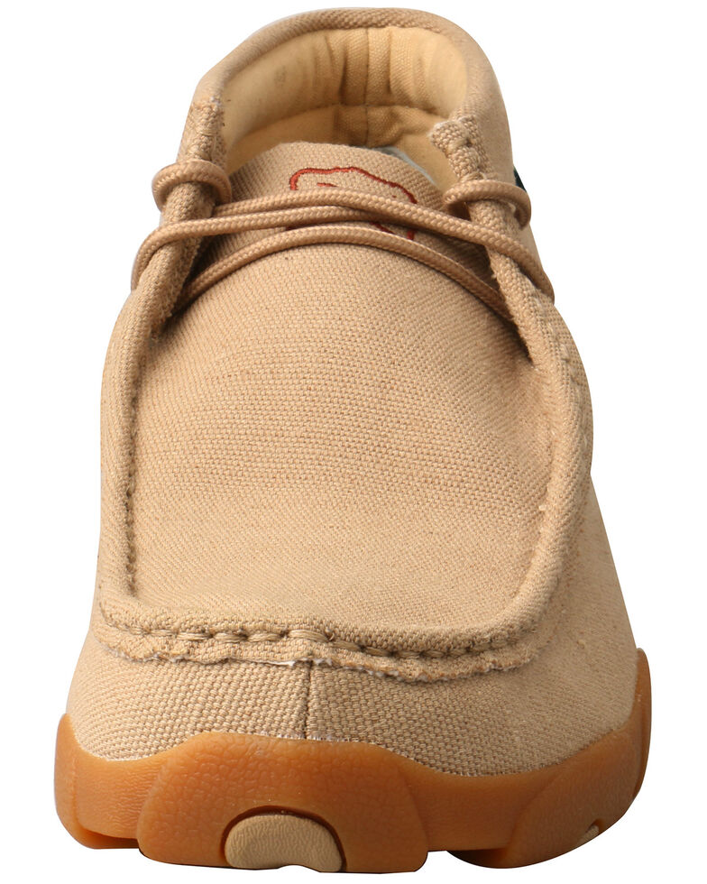 Twisted X Men's ECO TWX Driving Moccasin Shoes - Moc Toe, Beige/khaki, hi-res