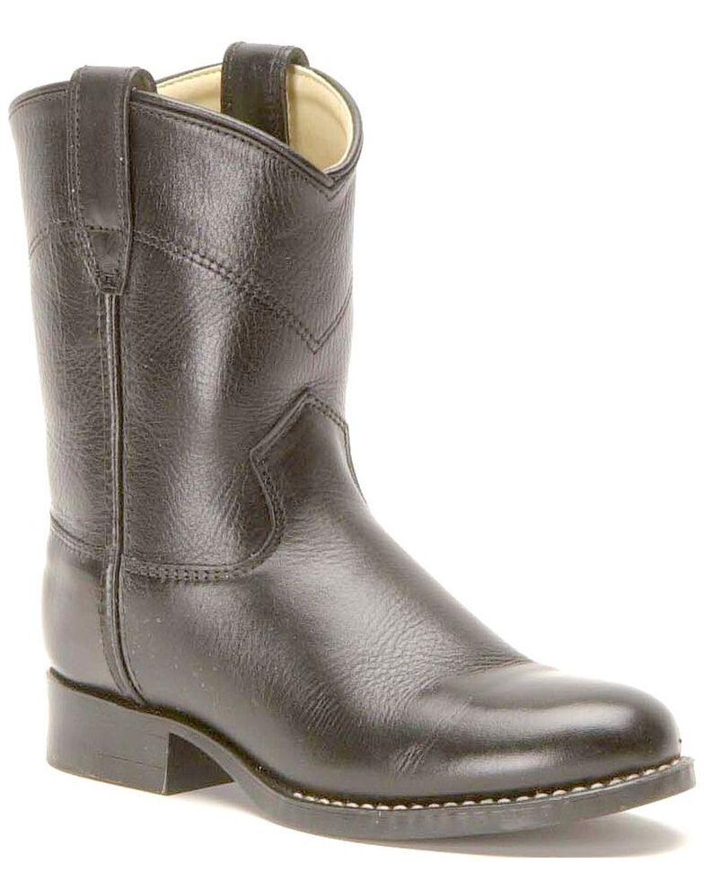 Old West Boys' Roper Cowboy Boots, Black, hi-res
