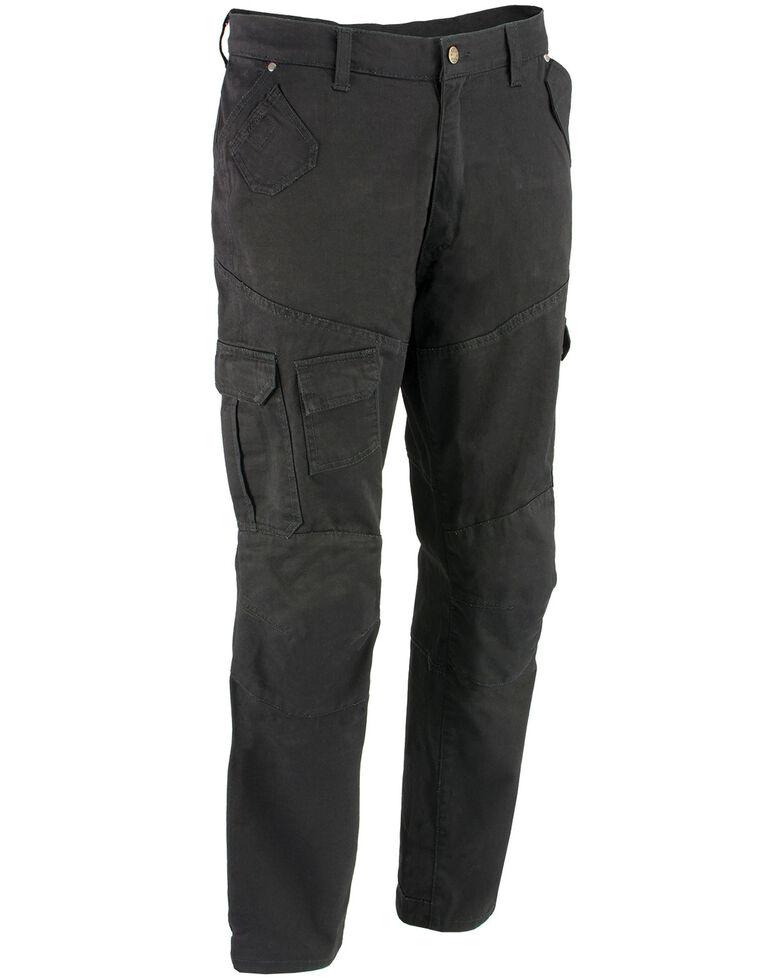 "Milwaukee Performance Men's 34"" Aramid Reinforced Black Cargo Jeans, Black, hi-res"