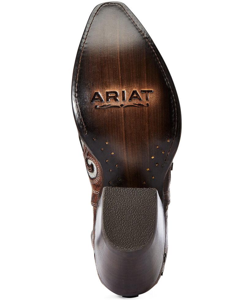 Ariat Women's Crackled Glitter Dixon Fashion Booties - Snip Toe, Grey, hi-res