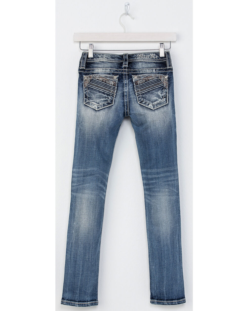 Miss Me Girls' Sure Thing Skinny Jeans, Indigo, hi-res