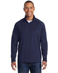 Sport-Tek Men's Navy 2X Sport-Wick Stretch Pullover - Tall, Navy, hi-res