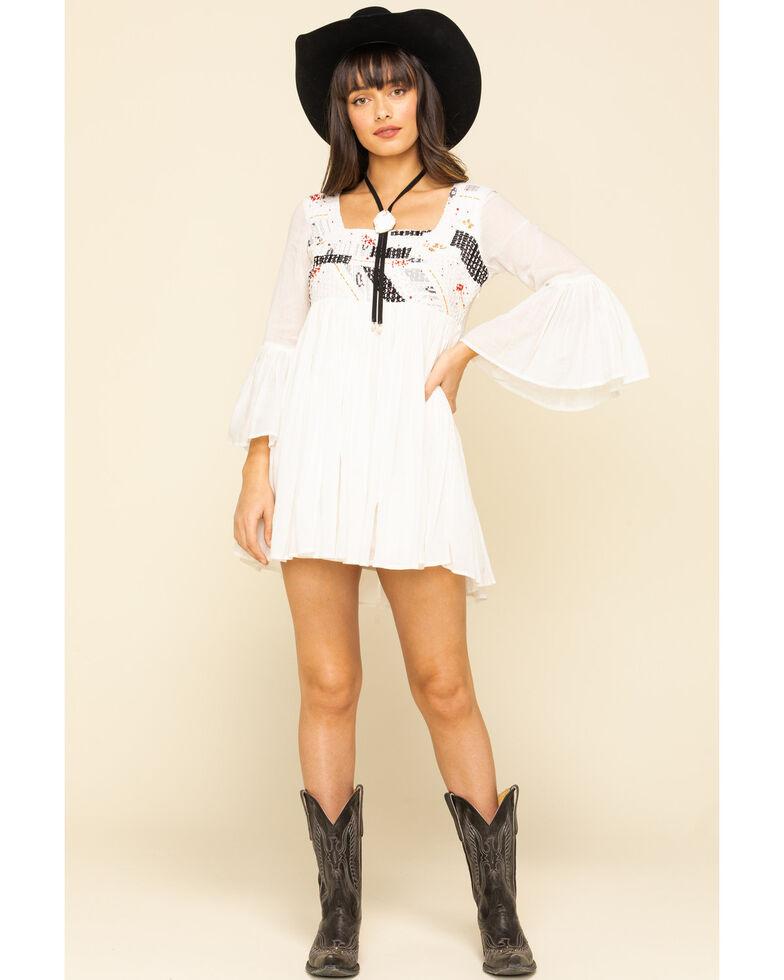 Show Me Your Mumu Women's Magdalena Long Sleeve Mini Dress, White, hi-res