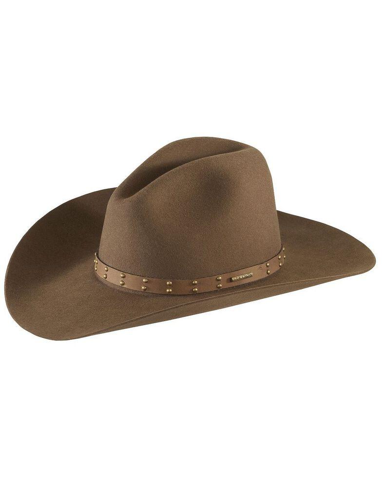 Stetson Seminole 4X Buffalo Fur Felt Hat, Mink, hi-res