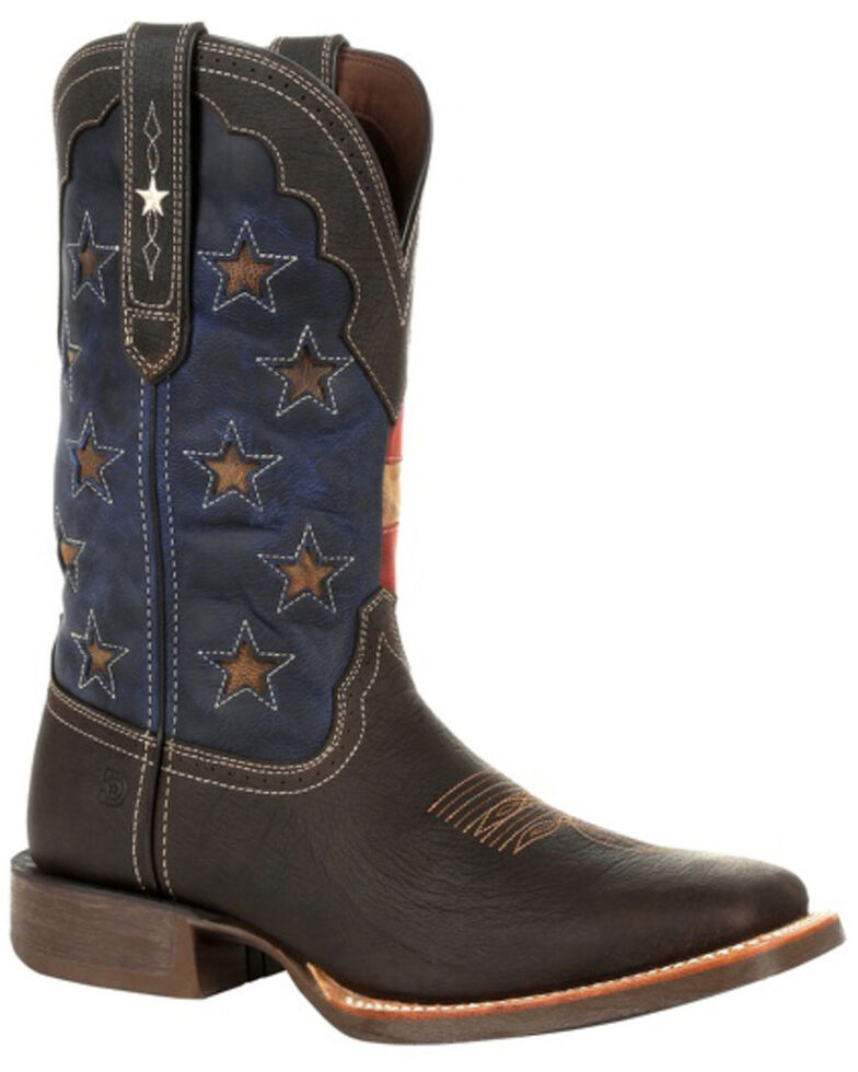 Durango Men's Rebel Pro Vintage Flag Western Boots - Square Toe, Brown, hi-res