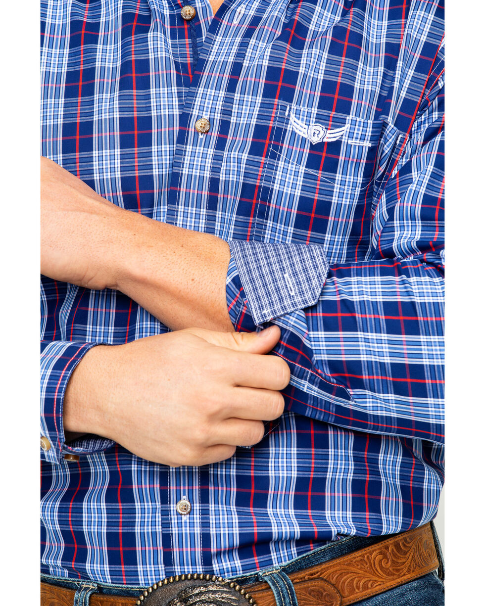 Ariat Men's Command Plaid Long Sleeve Western Shirt , Blue, hi-res