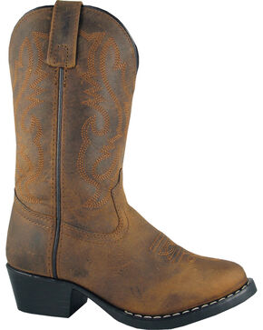 Smoky Mountain Kid's Denver Cowboy Boots, Brown, hi-res