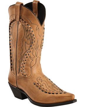Laredo Men's Laramie Snip Toe Western Boots, Antique Tan, hi-res