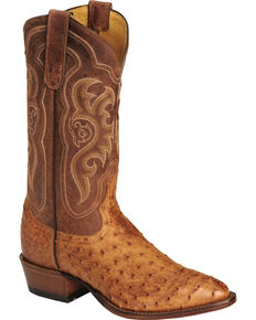 610981d154 Tony Lama Men s Vintage Full Quill Ostrich Exotic Western Boots