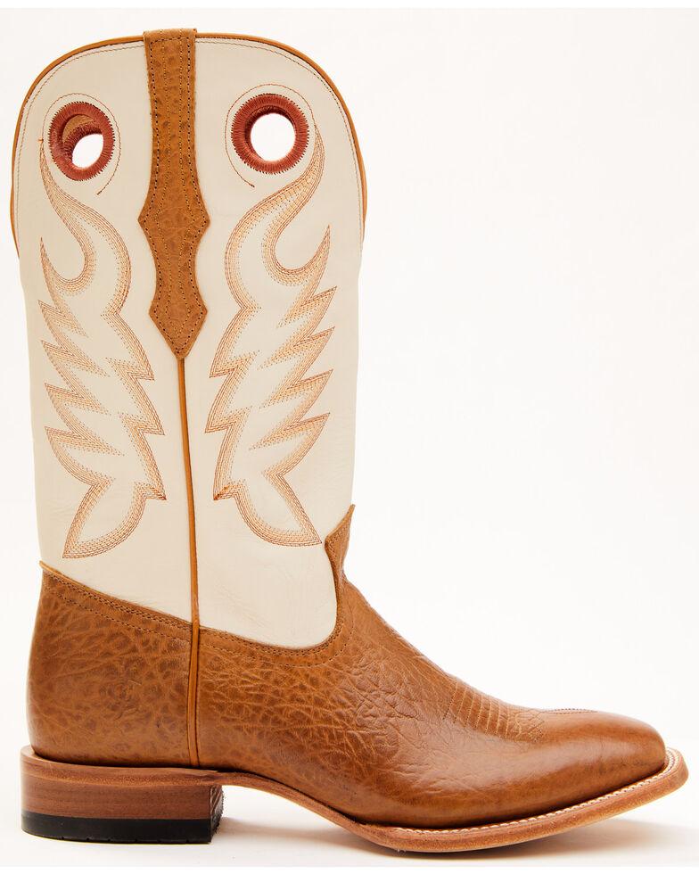 Cody James Men's Union Bone Western Boots - Wide Square Toe, Cream, hi-res