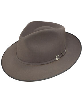 Stetson Men's Royal Deluxe G. D. Rye Felt Fedora , Grey, hi-res