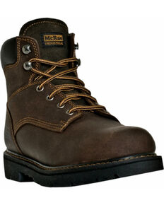 "McRae Men's 6"" Lace-Up Work Boots, Brown, hi-res"