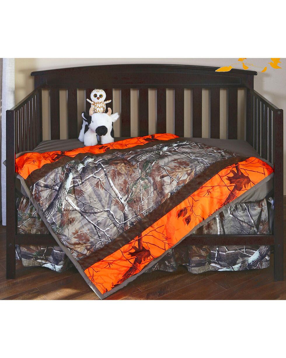 Carstens Realtree AP & AP Blaze Camo Crib Set - 3 Piece , Orange, hi-res