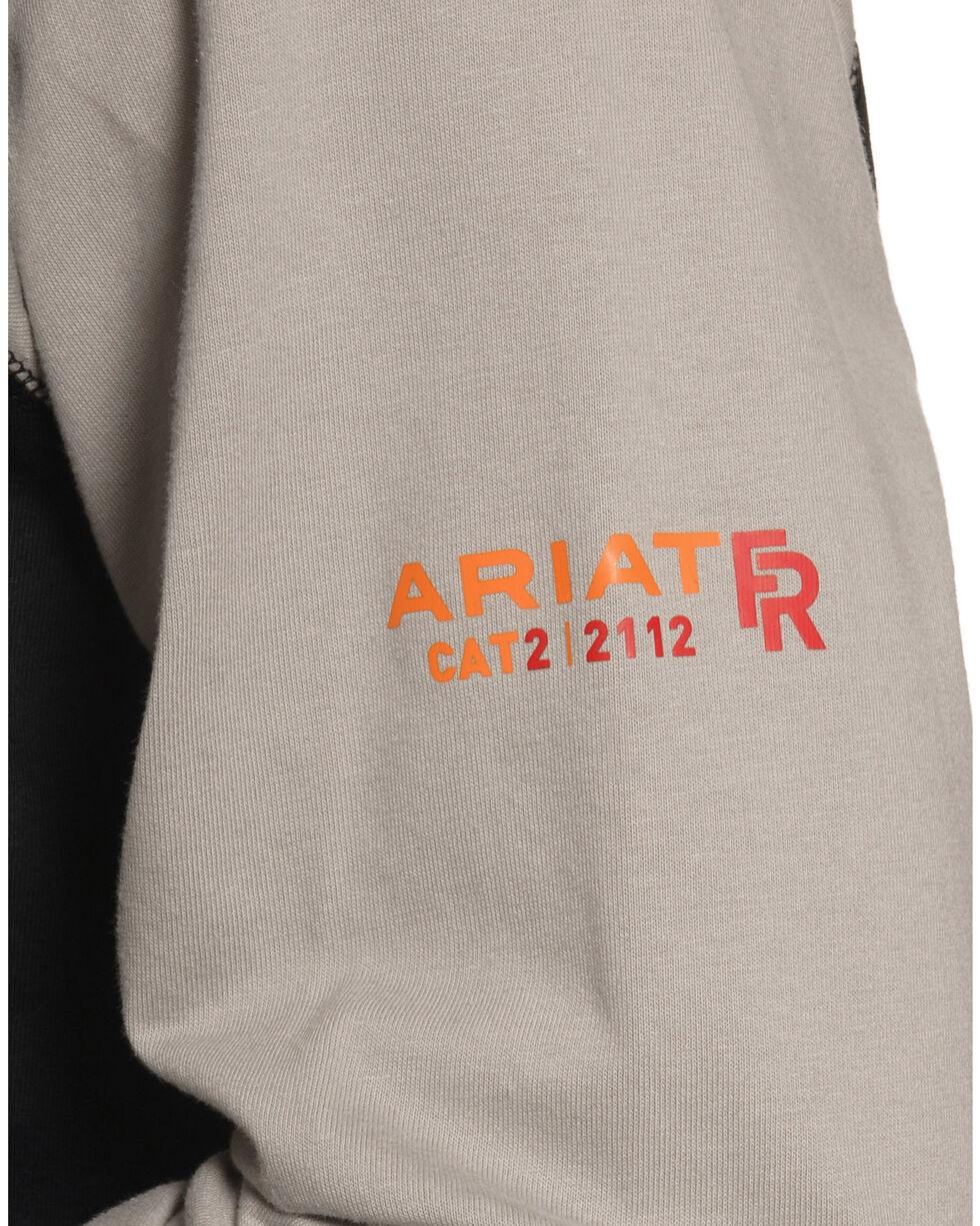 Ariat Men's FR Baseball Tee, Grey, hi-res