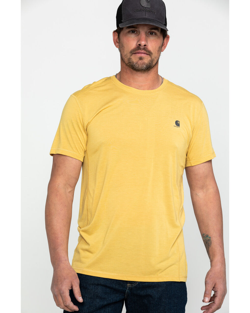 Carhartt Men's Force Extremes Lightweight Work T-Shirt - Big , Yellow, hi-res