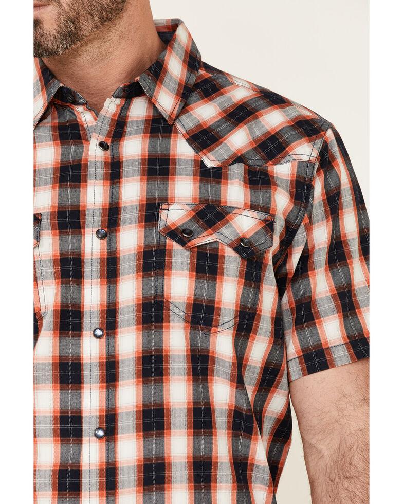Cody James Men's Freehand Large Plaid Short Sleeve Snap Western Shirt , Multi, hi-res