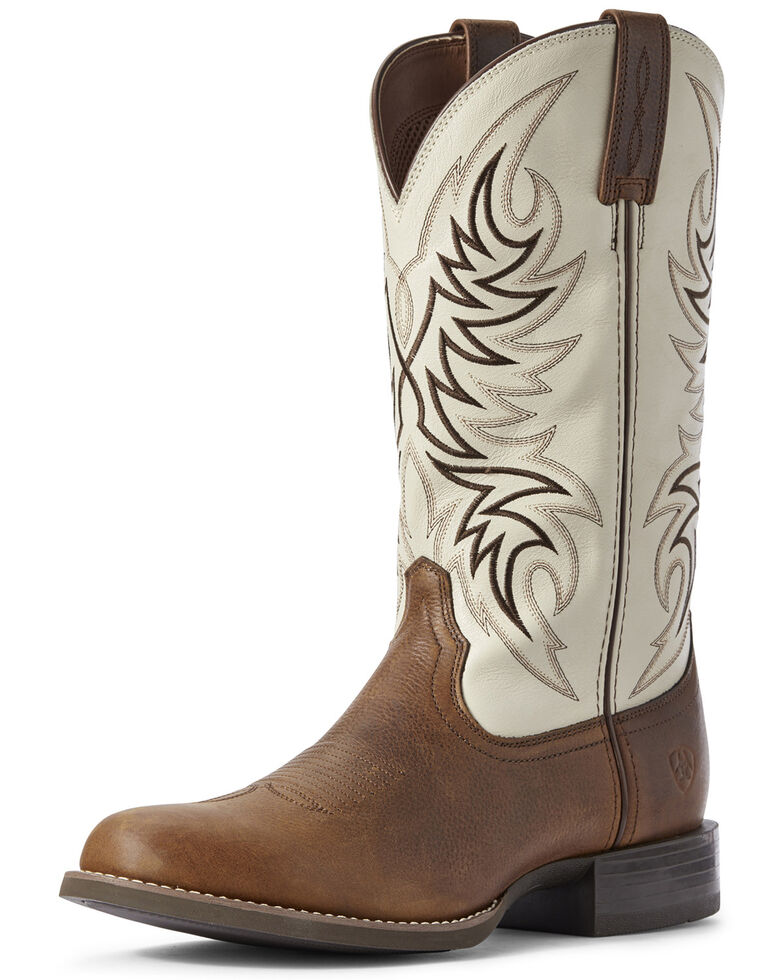 Ariat Men's Sport Horseman Western Boots - Round Toe, Brown, hi-res