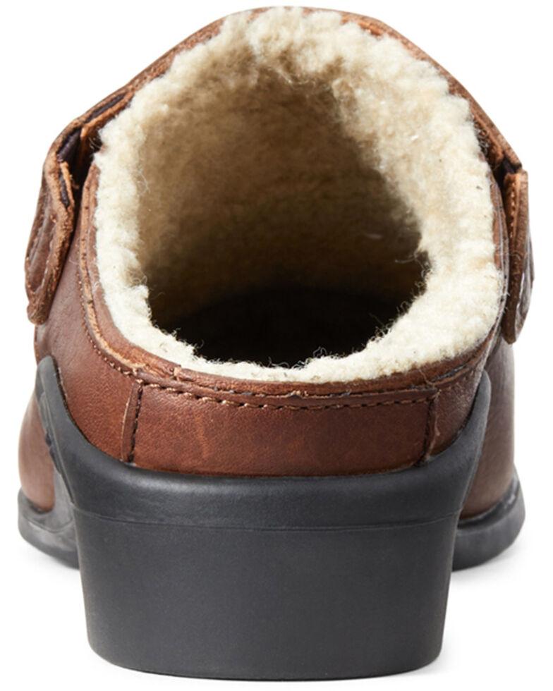 Ariat Women's Sport Mule Fur Shoes - Round Toe, Brown, hi-res