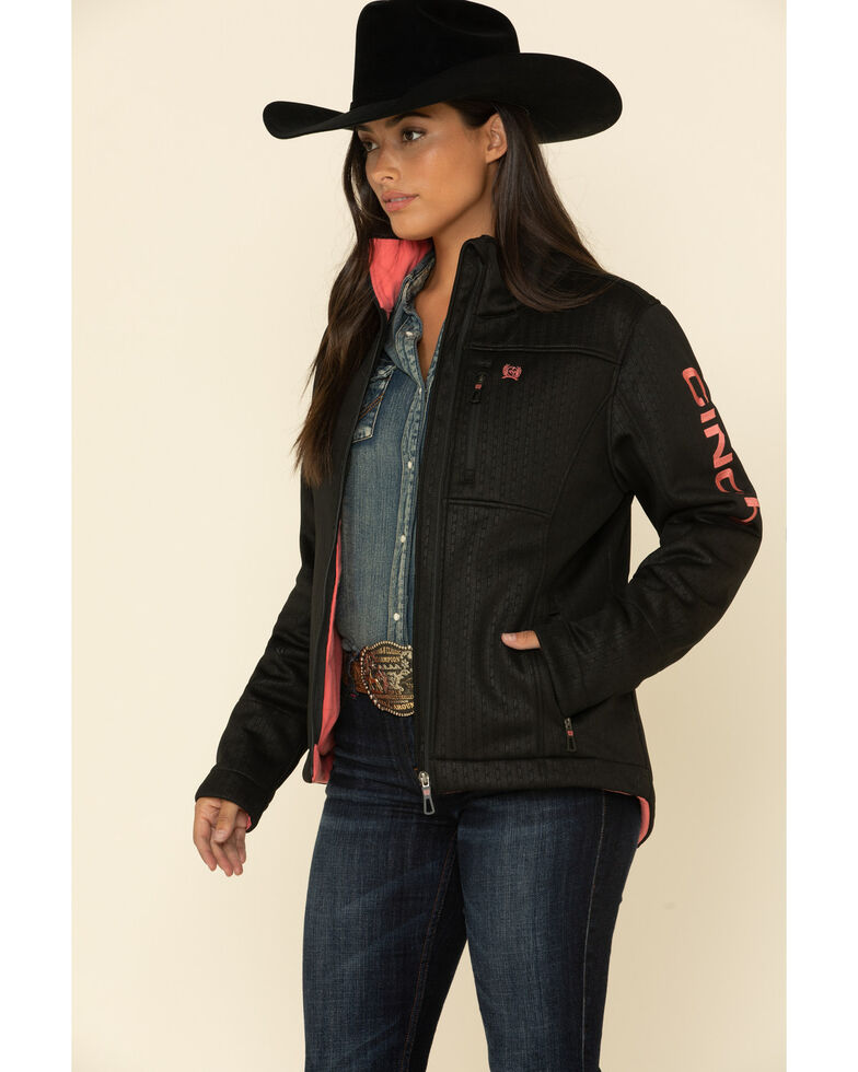 Cinch Women's Black Concealed Carry Embossed Bond Jacket , Black, hi-res