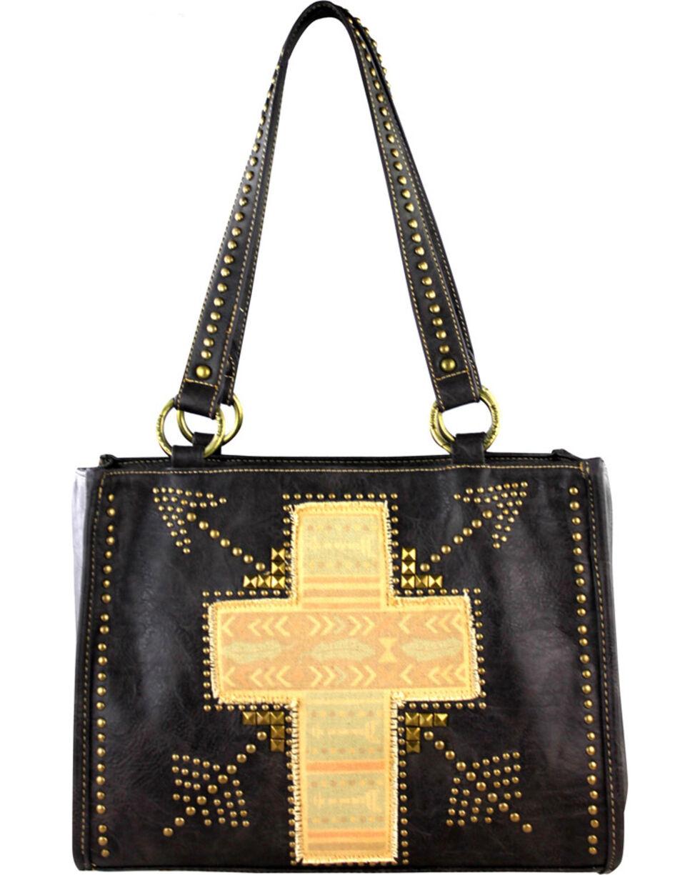 Montana West Spiritual Collection Cross Vintage Print Handbag, , hi-res