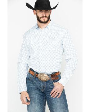 Cody James Men's Hip Camp Geo Print Long Sleeve Western Shirt , White, hi-res