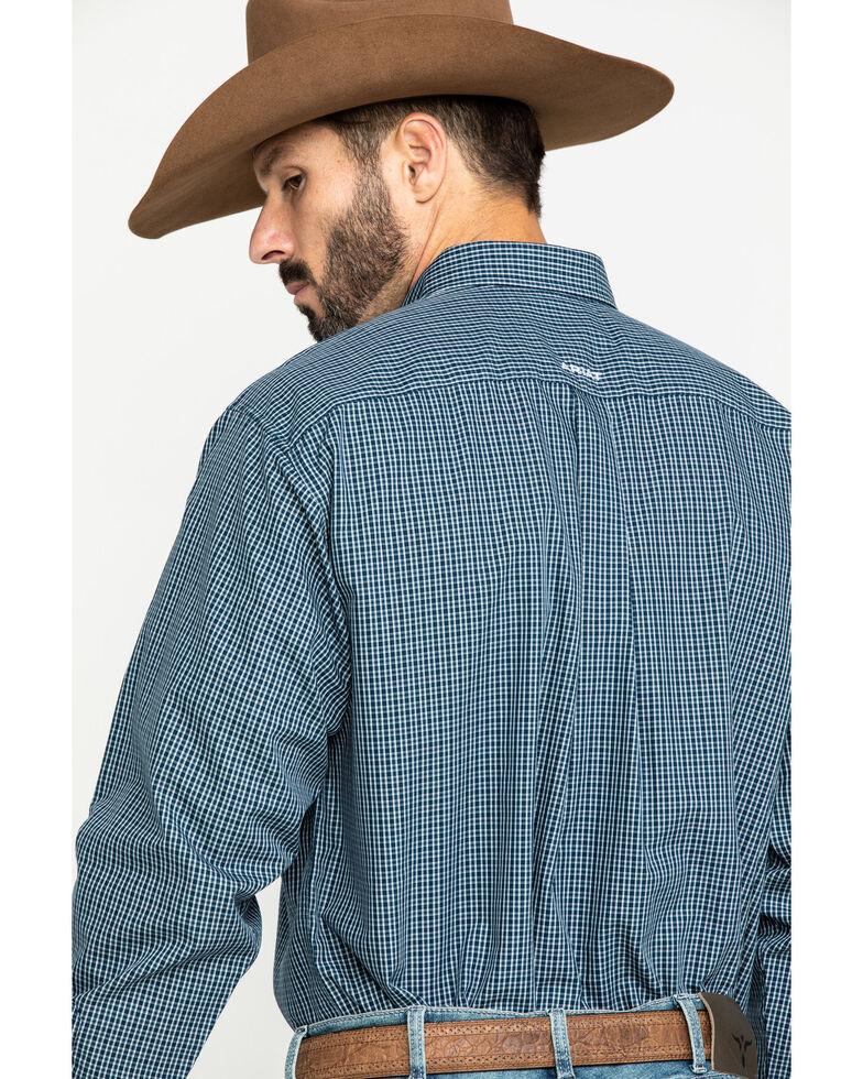 Ariat Men's Wrinkle Free Middlesburg Small Plaid Long Sleeve Western Shirt - Big , Navy, hi-res