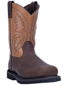 Laredo Men's Dax Western Work Boots - Steel Toe, Brown, hi-res