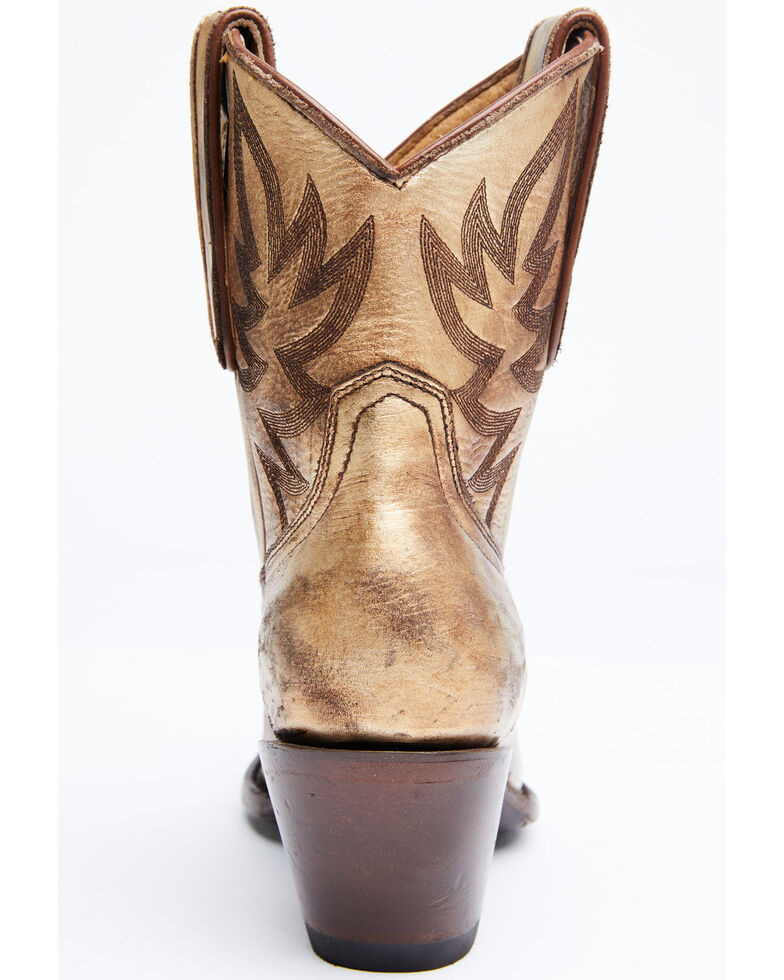 Idyllwind Women's Wheels Gold Western Booties - Round Toe, Gold, hi-res