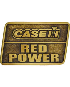 Montana Silversmiths Case IH Red Power Heritage Attitude Belt Buckle, Gold, hi-res