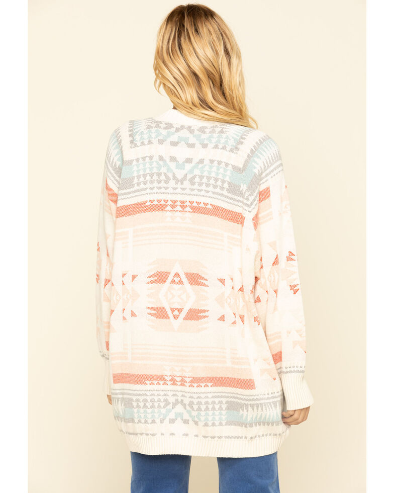 Pendleton Women's Sunrise Cocoon Cardigan, White, hi-res