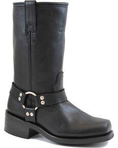 """Ad Tec Men's Harness 13""""Motorcycle Boots, Black, hi-res"""