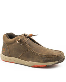 Roper Men's Clearcut Tan Shoes - Moc Toe, Tan, hi-res