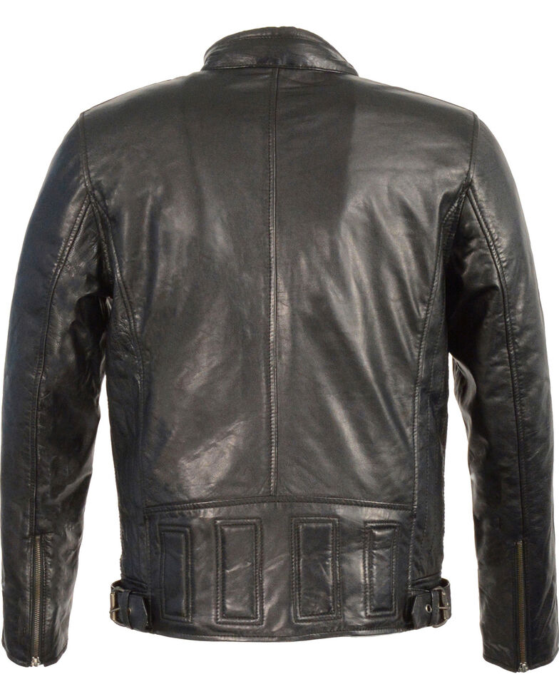Milwaukee Leather Men's Stand Up Collar Leather Jacket - 5X Big , , hi-res