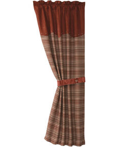 HiEnd Accents Silverado Coordinating Stripe Curtain With Tie Back, Multi, hi-res