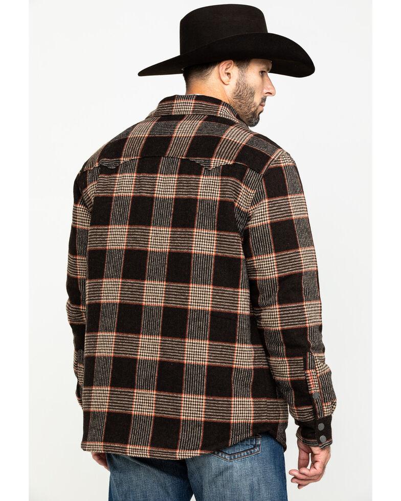 Stetson Men's Brown Quilt Lined Plaid Shirt Jacket , Brown, hi-res
