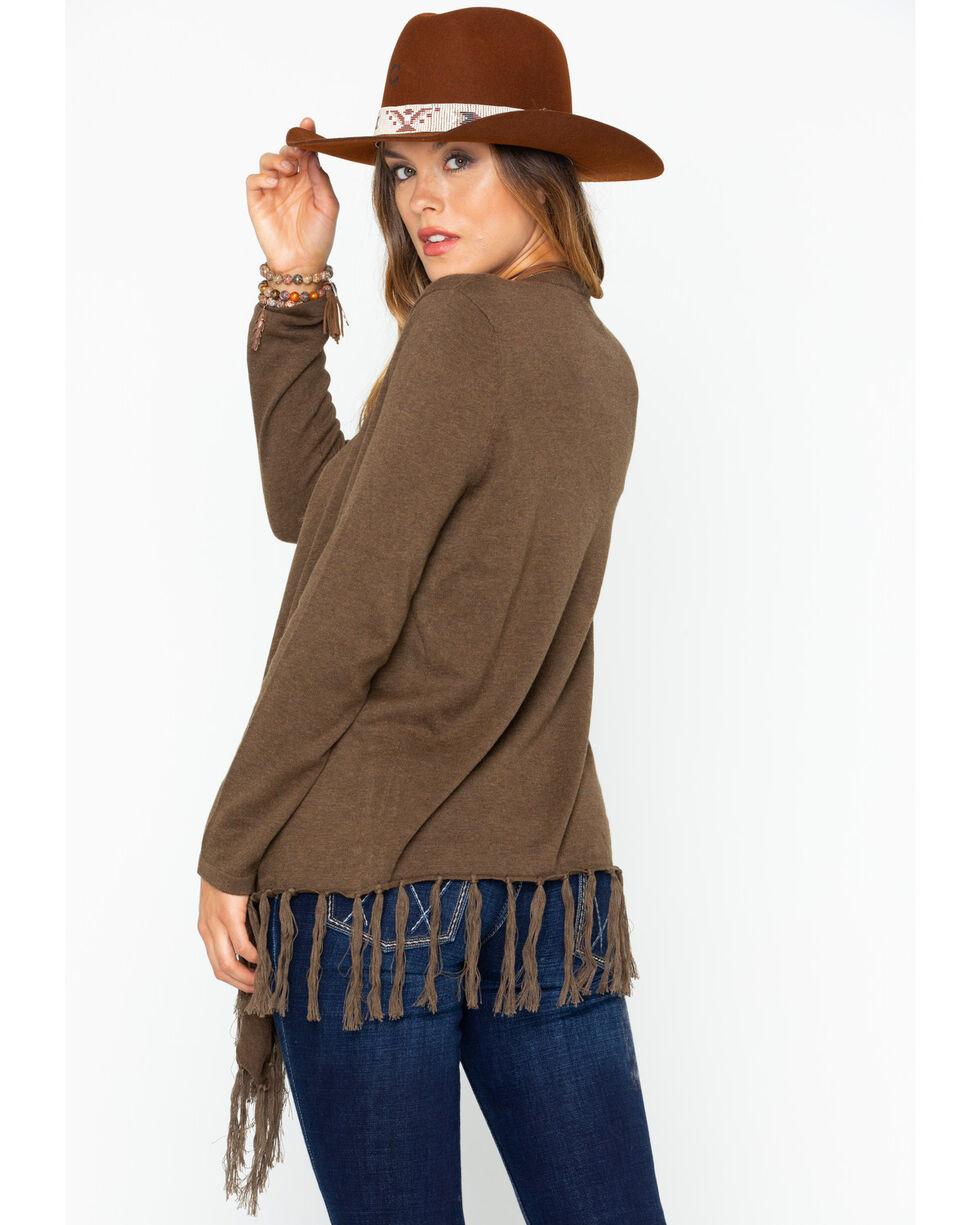Tasha Polizzi Women's Waco Sweater, Brown, hi-res