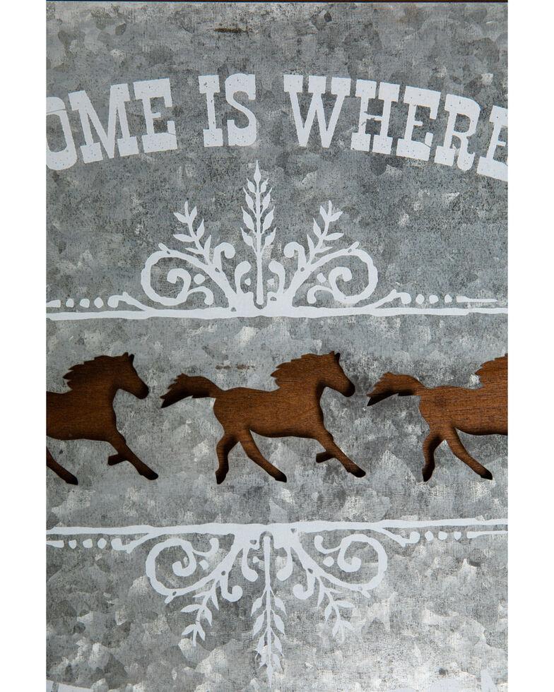 Boot Barn Ranch Horses Roam Wall Art, Silver, hi-res