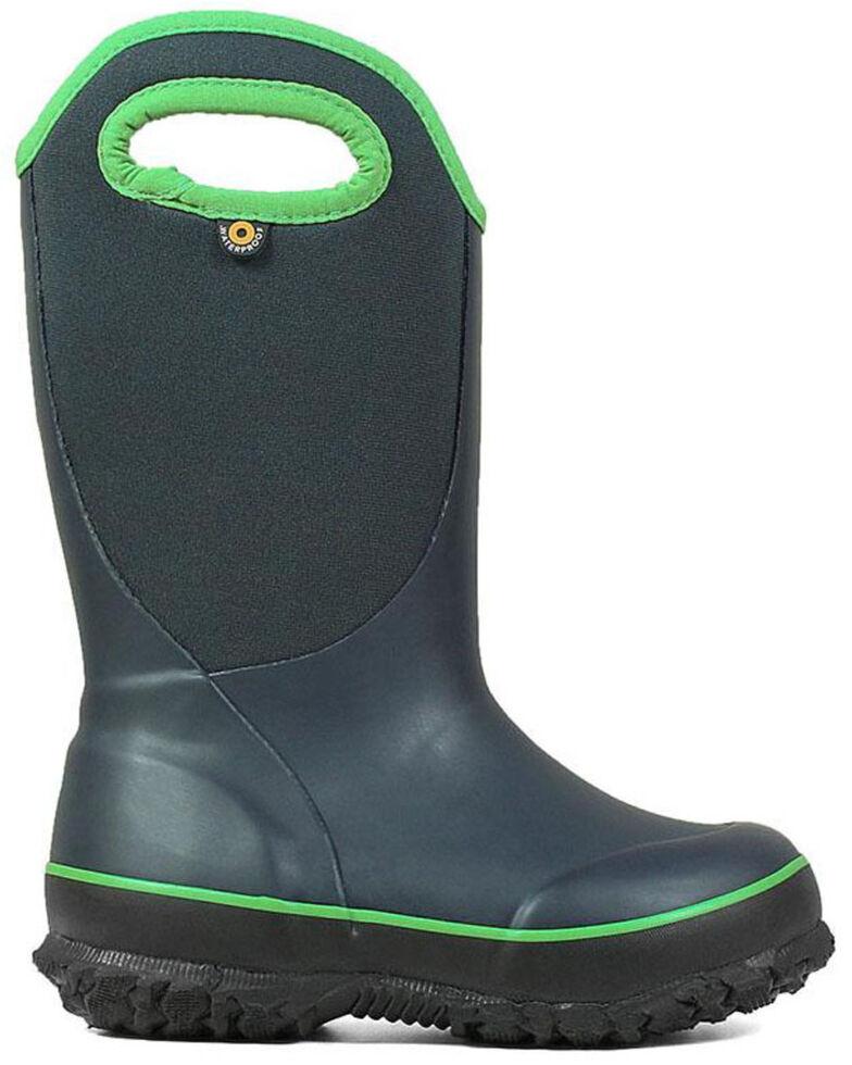 Bogs Girls' Grey Slushie Outdoor Boots - Round Toe, Dark Grey, hi-res