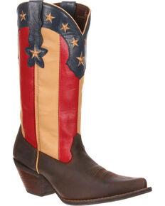 Crush By Durango Women's Stars & Stripes Boots - Snip Toe , Brown, hi-res