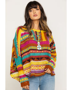 Free People Women's December Skies Poncho, Multi, hi-res