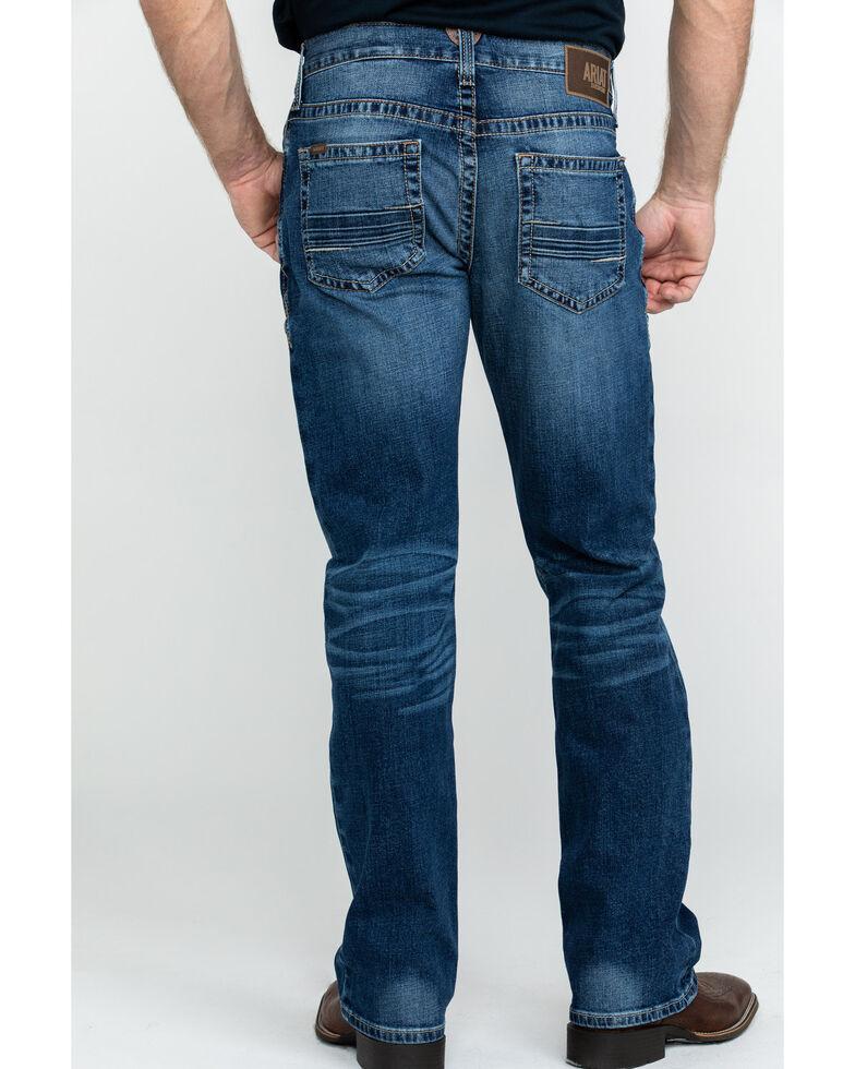 Ariat Men's M4 Summit Low Rise Stretch Bootcut Jeans , Blue, hi-res