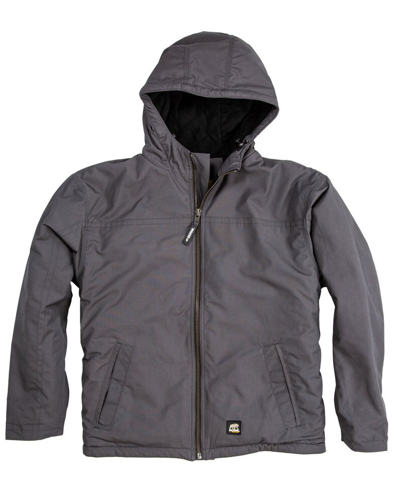 Berne Men's Slate Torque Ripstop Hooded Work Jacket - Big , Slate, hi-res